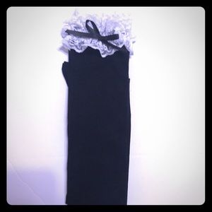 MARUQ Knee High Black & White Lace Socks [AC-4]